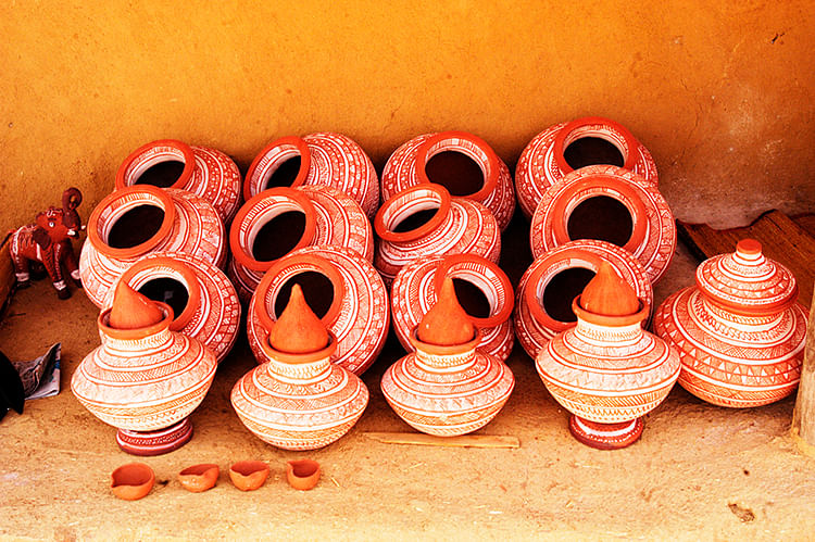 Pots made in Kutch village