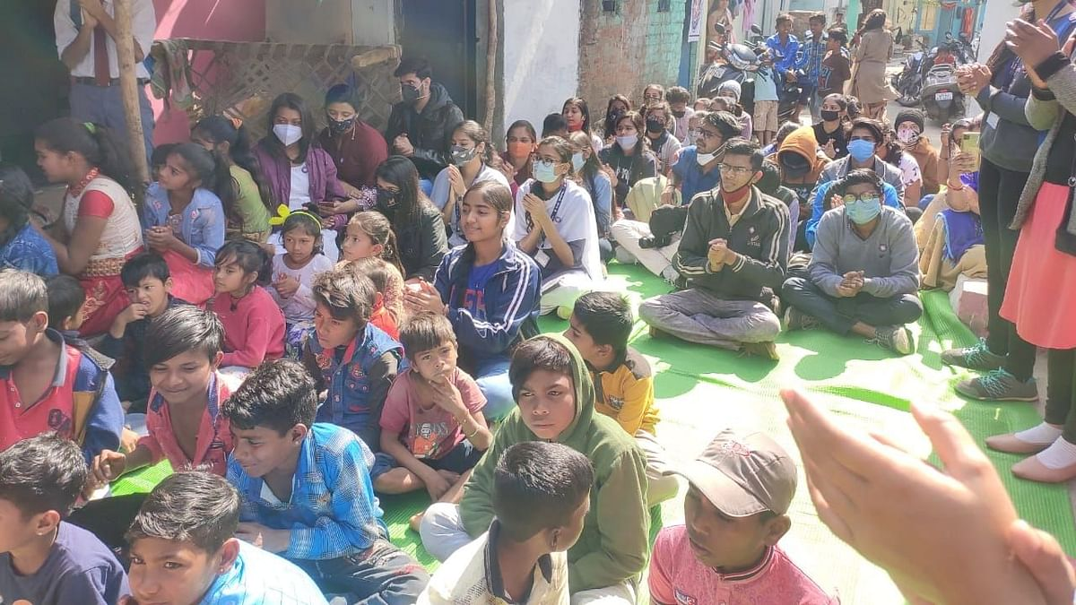 Bhopal: Literacy Club celebrated its third foundation day with children of slum areas in city