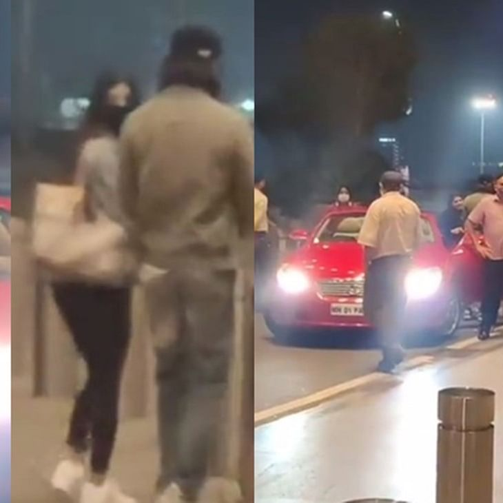 Watch: Shah Rukh Khan arrives in a Rs 24 Lakh convertible car to see off his daughter Suhana at the airport