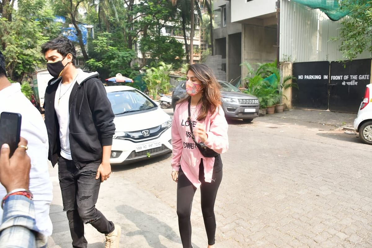 Watch: Rhea Chakraborty asks paps not to follow her, brother Showik as they step out for the first time after bail in SSR drugs case
