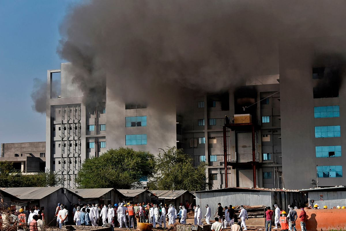 In Pictures: Fire at Pune's Serum Institute of India; 5 dead