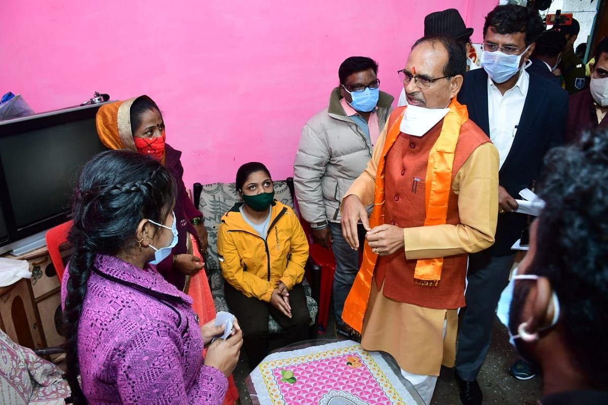 CM Shivraj Singh Chouhan at Panchsheel Nagar