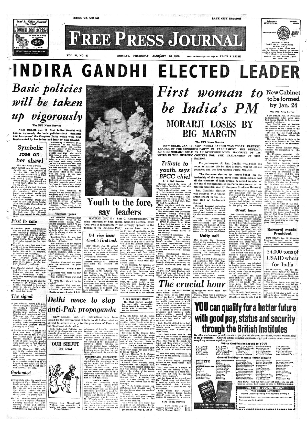 This Week in History from FPJ Archives: Change of leadership - from Indira Gandhi to Barack Obama