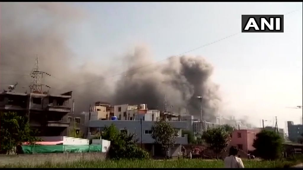 Fire breaks out at Terminal 1 gate of Serum Institute of India in Pune. More details awaited.