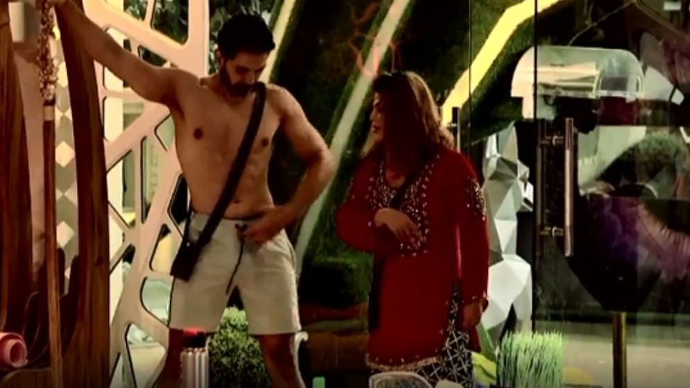 BB14: Rubina Dilaik loses calm after Rakhi Sawant pulls drawstrings of husband Abhinav Shukla's shorts