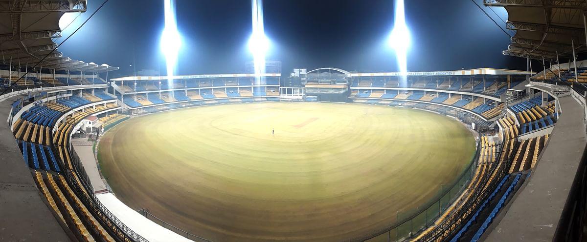 Indore: Holkar stadium getting ready  for Mushtaq Ali Trophy
