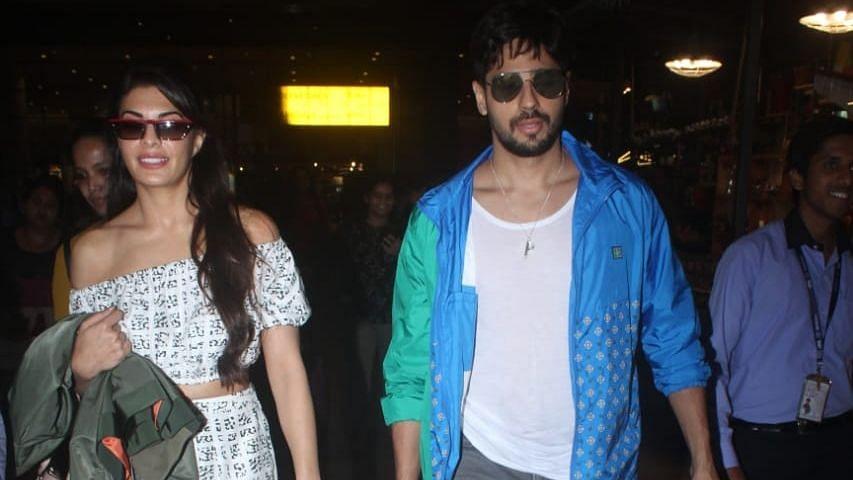 Sidharth Malhotra got Jacqueline's company while returning back to Mumbai.