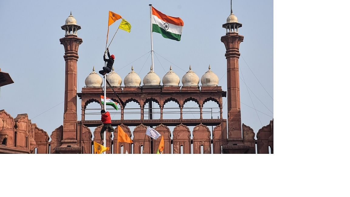 R-Day vandalism at Red Fort throws up questions about non-violent protests in recent times, says Bhavdeep Kang