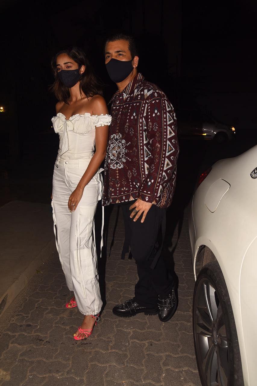 Karan Johar and Ananya Pandey