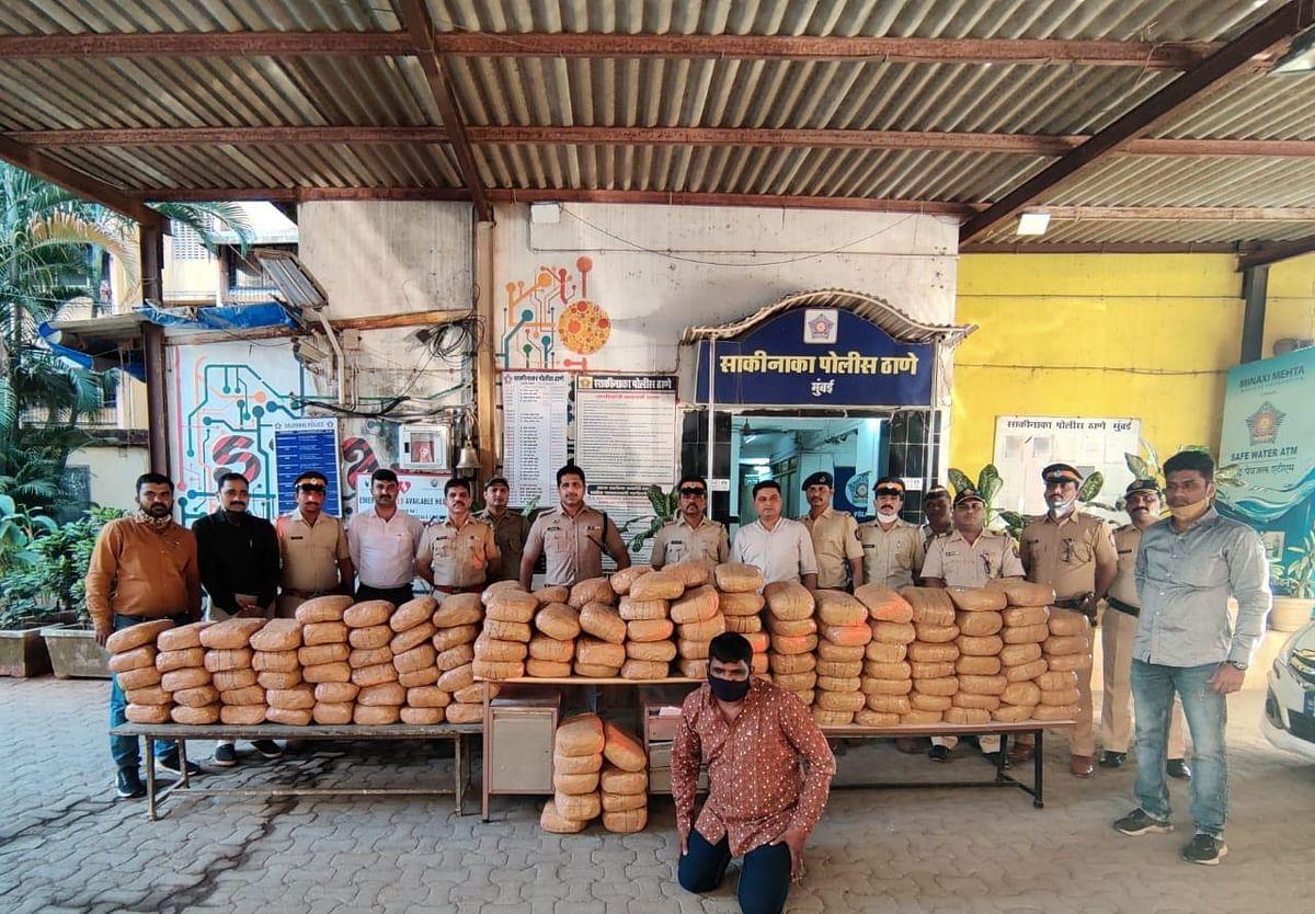 Mumbai: 345kg marijuana worth ₹51 lakh seized from Chandivali; one held