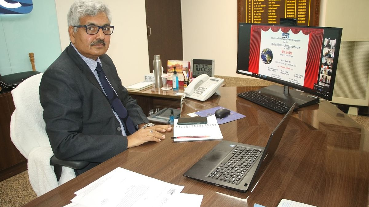 A.K. Singh, CMD, NHPC inaugurates 'Remote Sensing and GIS Laboratory'