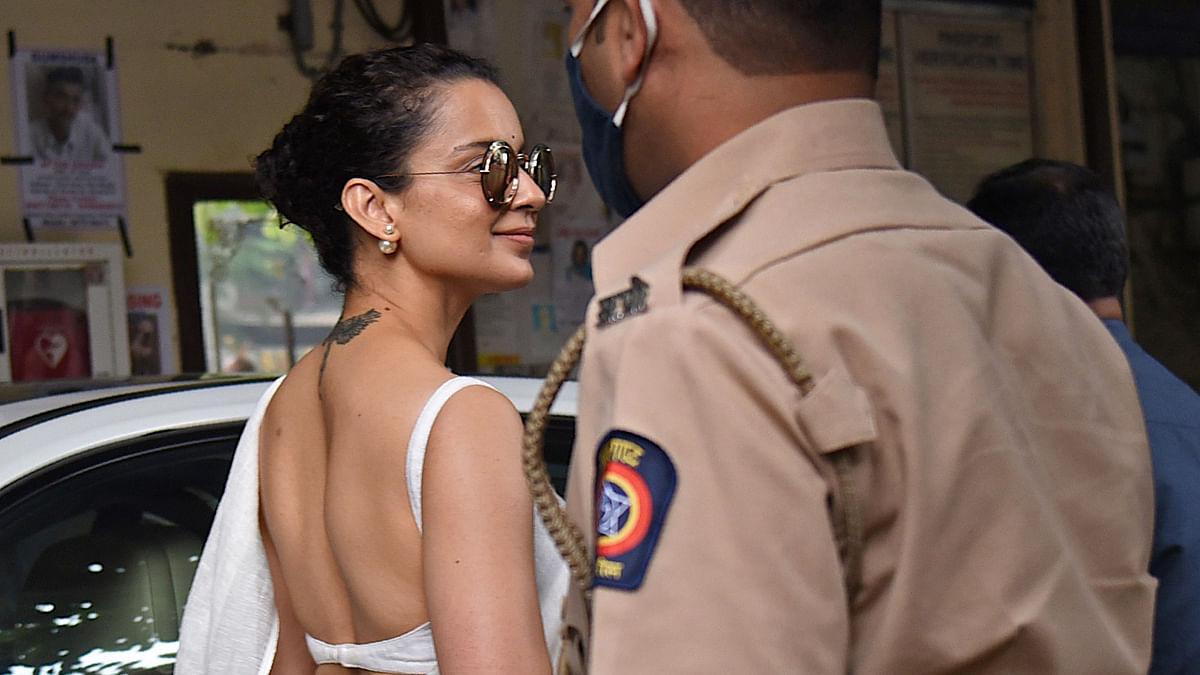 Mumbai: Kangana Ranaut arrives at Bandra Police station to record statement in sedition case; see pics