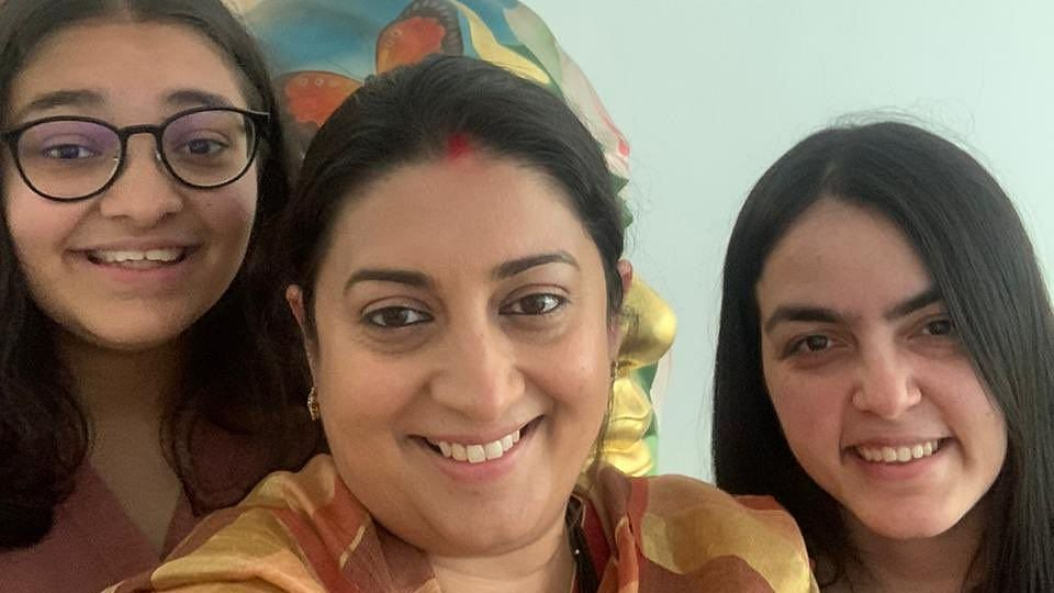 'My pride': Union minister Smriti Irani posts selfie with daughters on National Girl Child Day