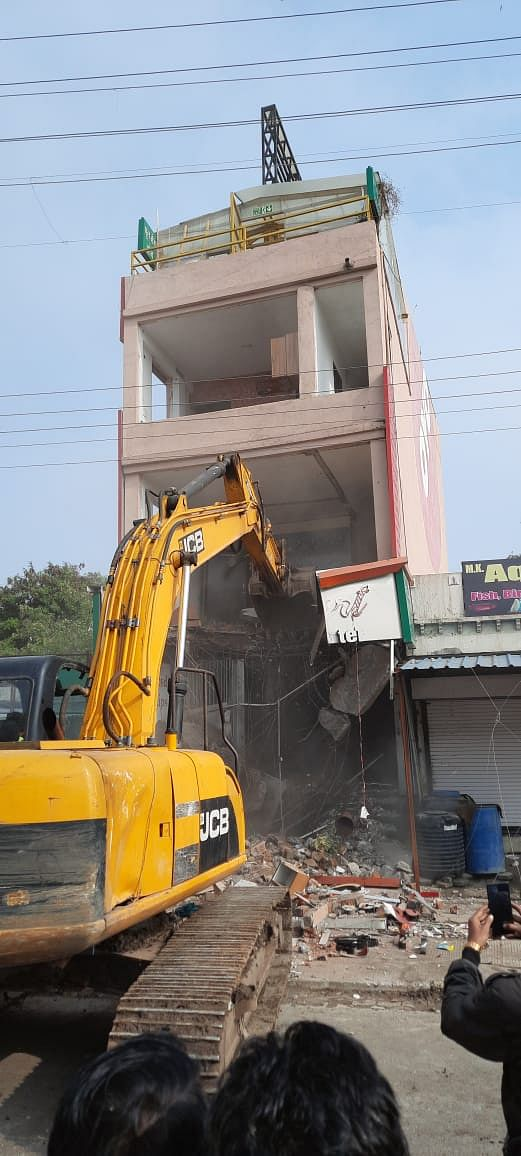 Indore: ​Goon's illegal hotel razed, to be booked under NSA​