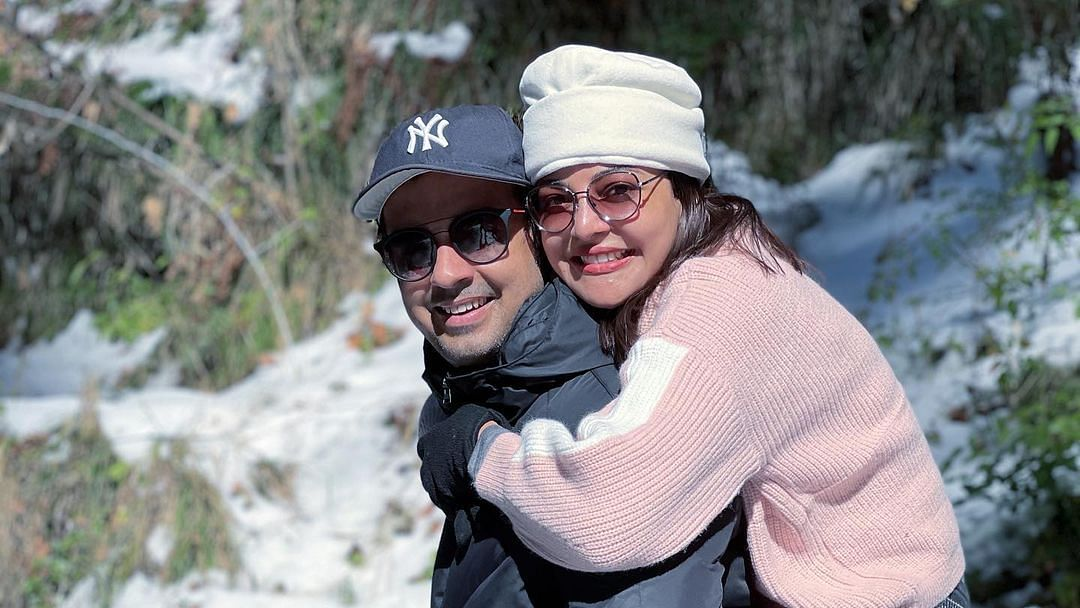 In Pics: Kajal Aggarwal, Gautam Kitchlu dish out major couple goals as they enjoy New Year's gateway in Manali