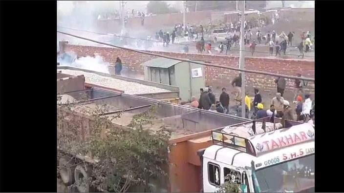 Haryana Police use water cannon, teargas shells to stop protesters ahead of Khattar's 'kisan mahapanchayat'