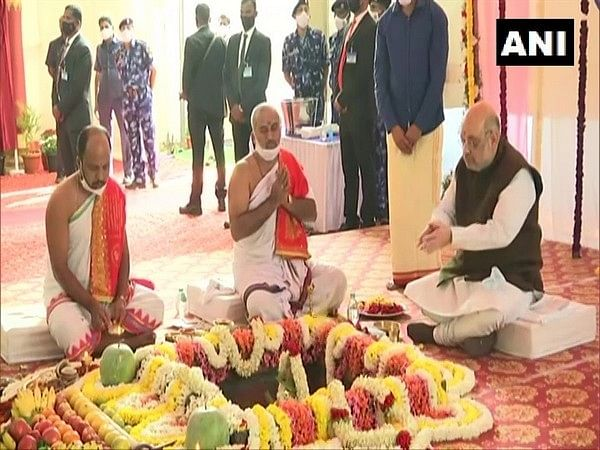 Amit Shah lays foundation stone of Bhadravathi RAF Centre