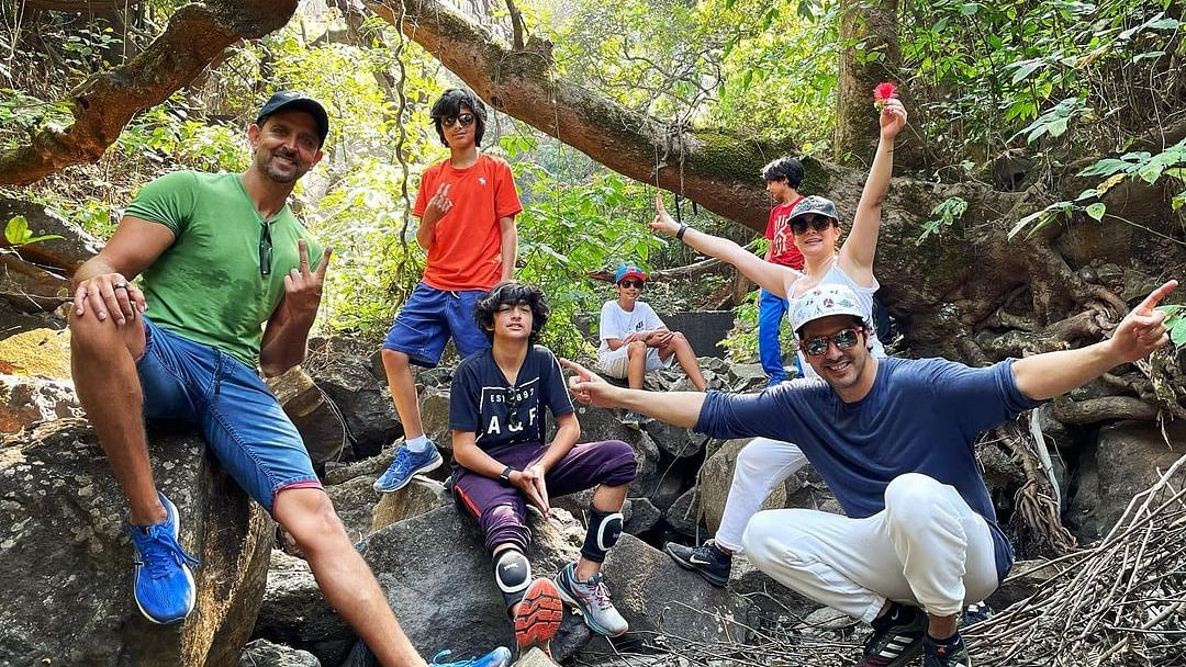 Hrithik Roshan goes hiking with ex brother-in-law Zayed Khan, his family