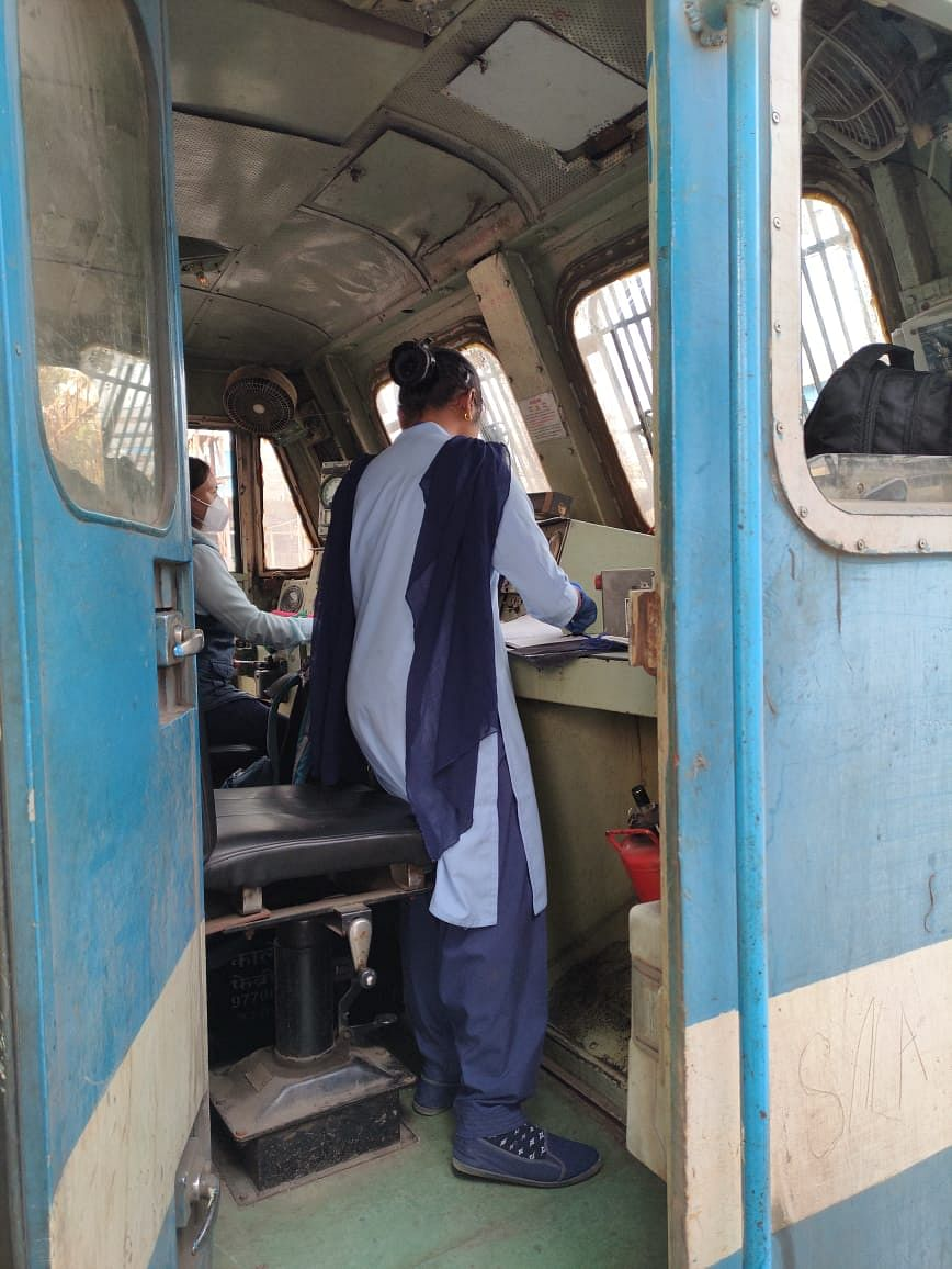 All women staff crew pilots goods train on Western Railway