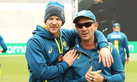 Buddies... Tim Paine with his coach Justin Langer