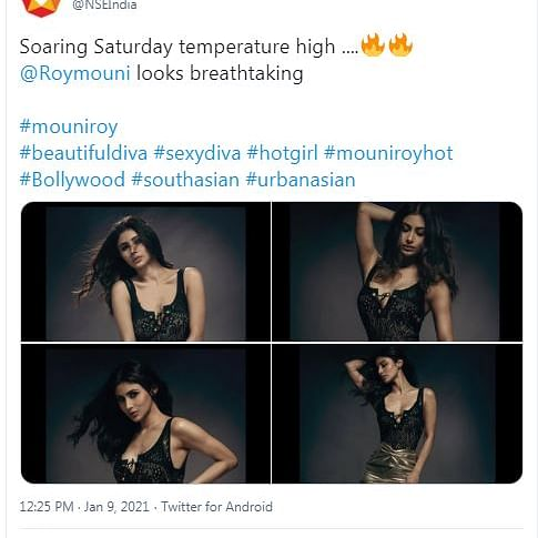 NSE shares pictures of Mouni Roy on Twitter, blames 'human error'