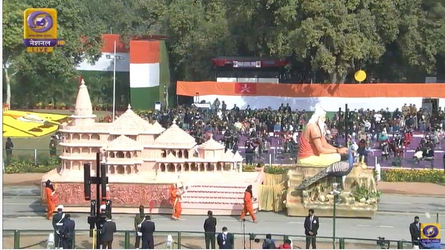 Republic Day parade: UP tableau displays Ayodhya's Ram Temple model
