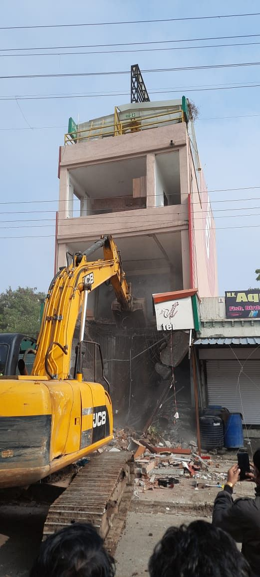 Madhya Pradesh: Listed goon Mohammad Ali Usmani's hotel razed in Indore, to be booked under National Security Act, says collector