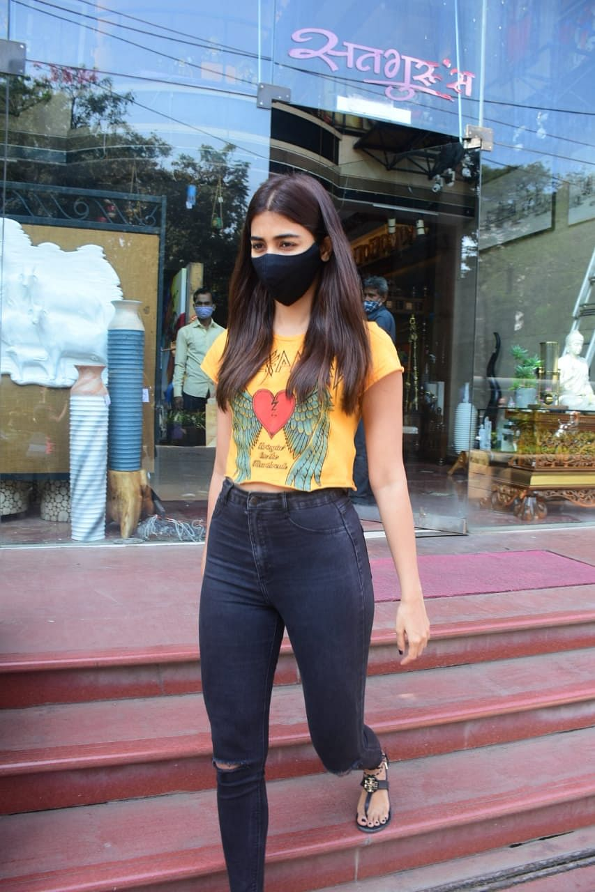Pooja Hegde spotted at Linking Road, Bandra