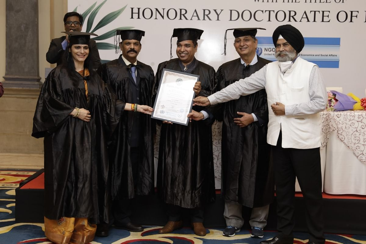 Honorary Doctorate in Humanities conferred on Dr. S H Jafri
