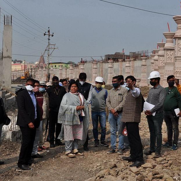 Ujjain: Tourism, cultural and religious endowments minister Usha Thakur assesses work at Mahakaleshwar Temple