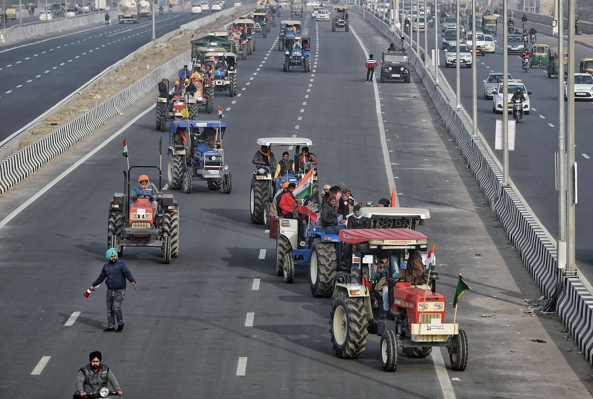 Farmers of Chhattisgarh and Gujarat join tractor rally in Delhi on Republic Day