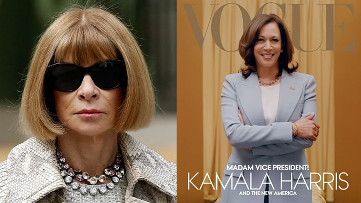 'It reflected the moment that we were living in': Vogue editor Anna Wintour defends US VP Kamala Harris' cover