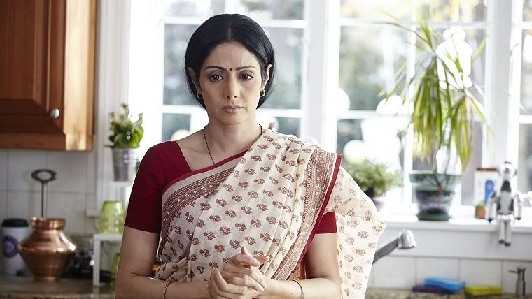 Sridevi in a still from the movie English Vinglish