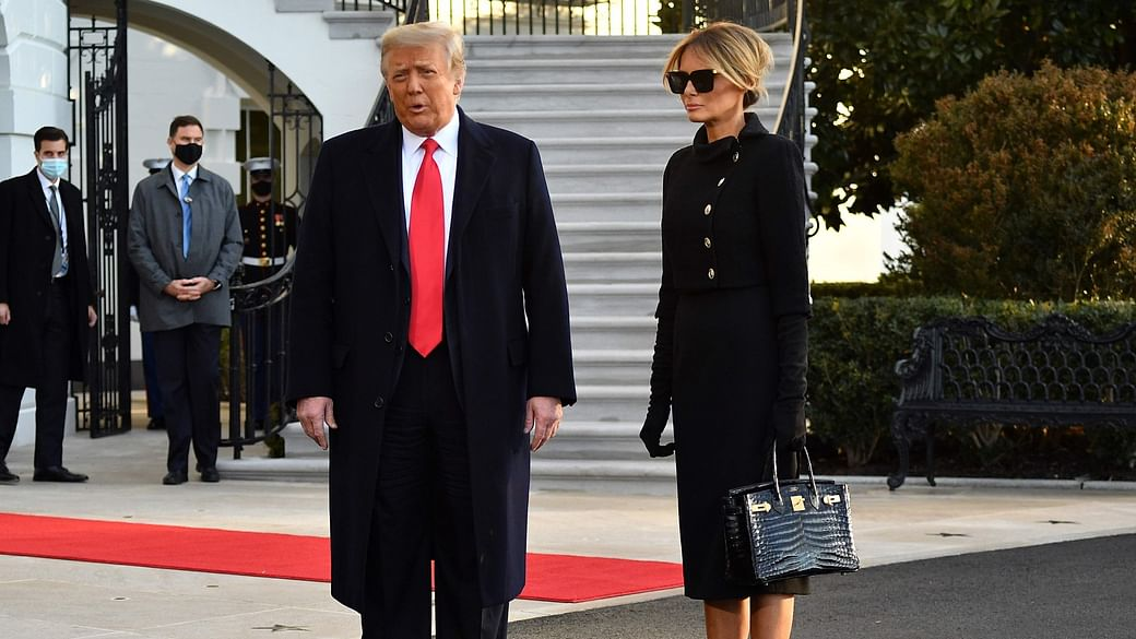 Melania Trump exits The White House carrying a Rs 65 Lakh croc Hermès  Birkin bag