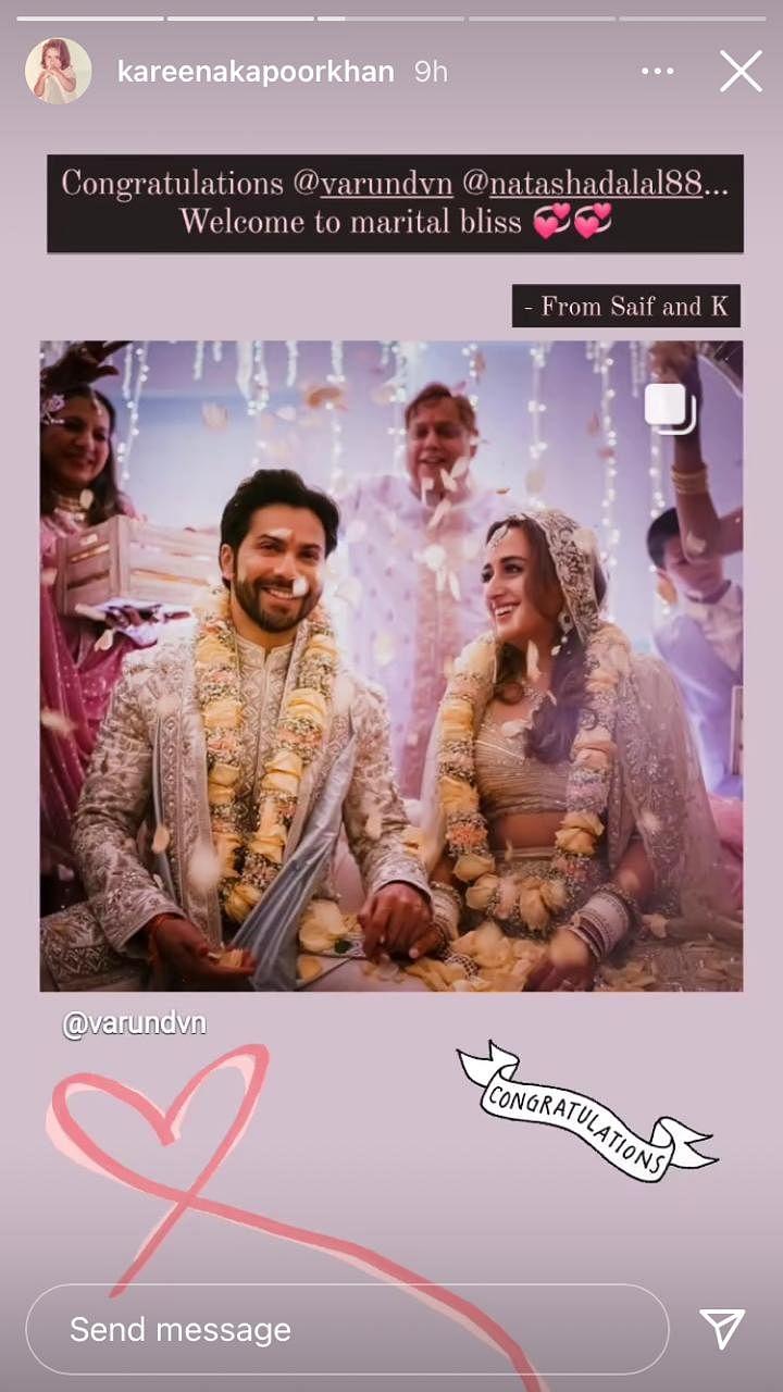 Priyanka Chopra, Kareena Kapoor Khan and other Bollywood stars shower love on newly-weds Varun and Natasha