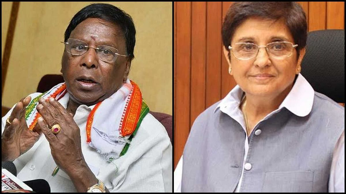 'Call back Kiran Bedi': Puducherry CM V Narayanasamy continues protest against Lieutenant Governor for third day