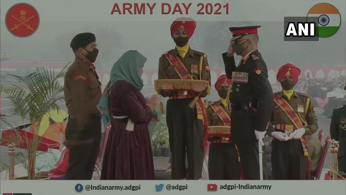 At the Army Day parade 2021, five Army personnel were awarded the Sena Medal posthumously for their acts of gallantry in different operations