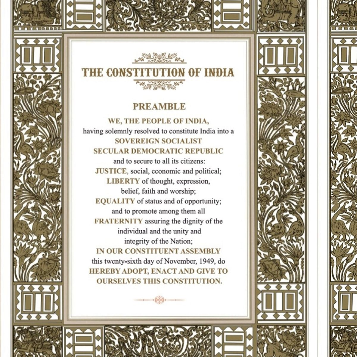Republic Day 2021: Full text of Preamble to the Indian Constitution in English, Hindi, and Marathi