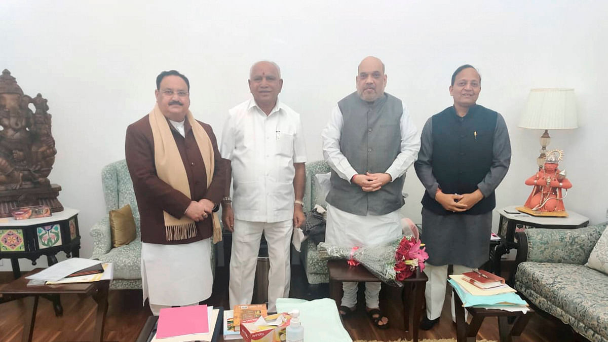 Karnataka: Chief Minister BS Yediyurappa meets Amit Shah, JP Nadda to discuss political scenario