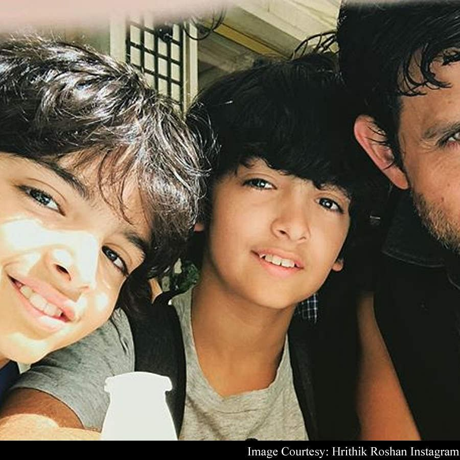 Watch: 'Daddy Cool' Hrithik Roshan goes on bike ride with his sons Hrehaan  and Hridaan