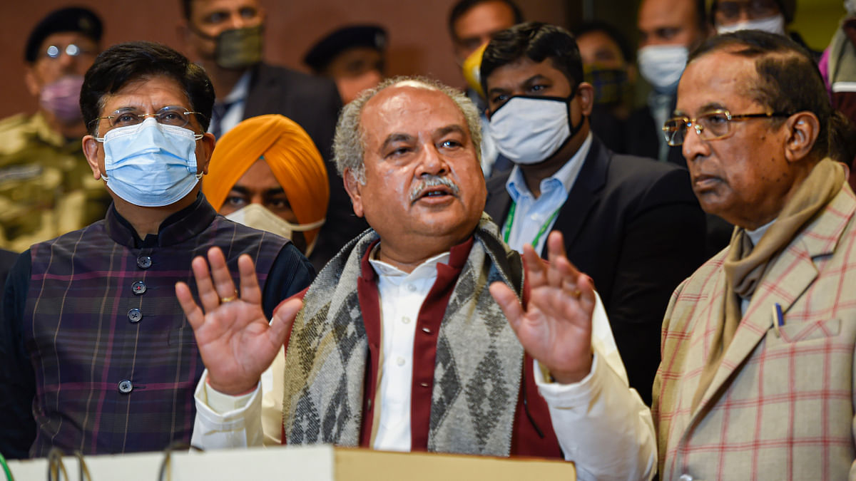 'There's an invisible force that does not want farmers' agitation to end': Union Agriculture minister Narendra Tomar
