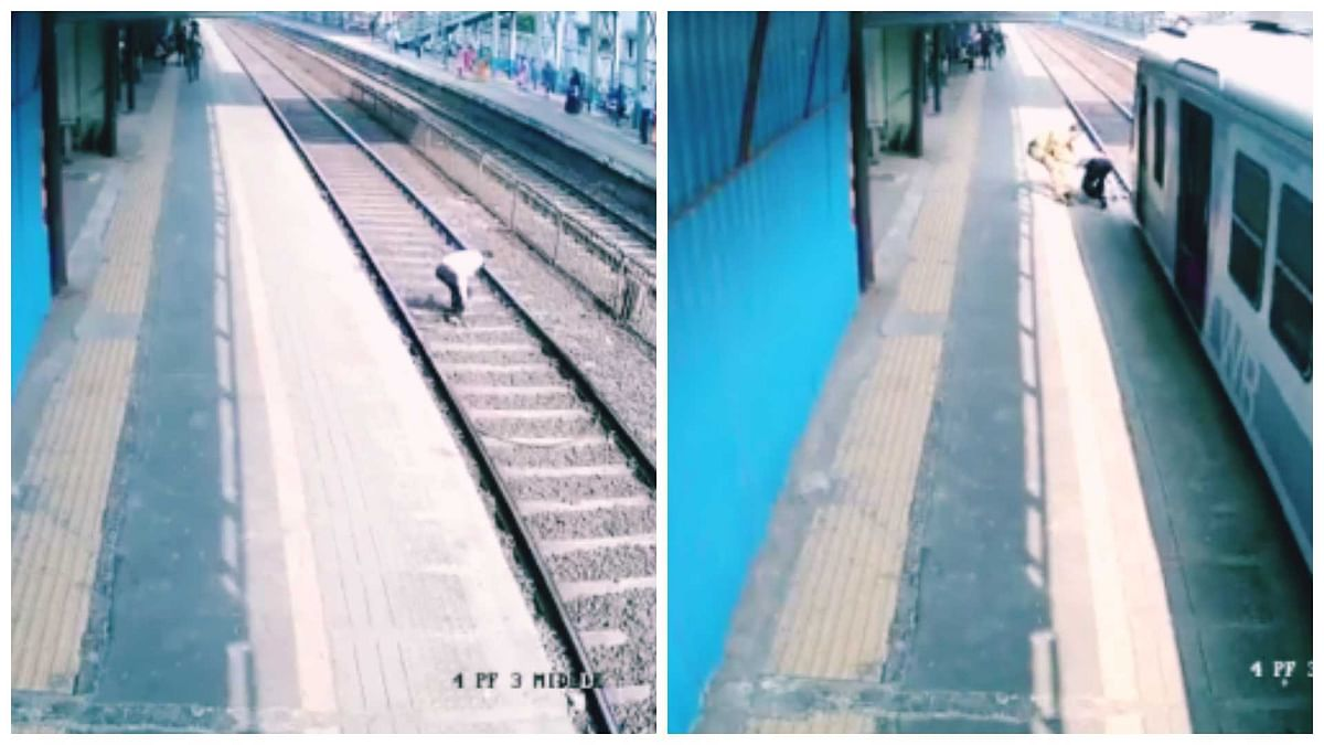 Mumbai: Cop saves life of 60-year-old man at railway track, slaps him for being stupid