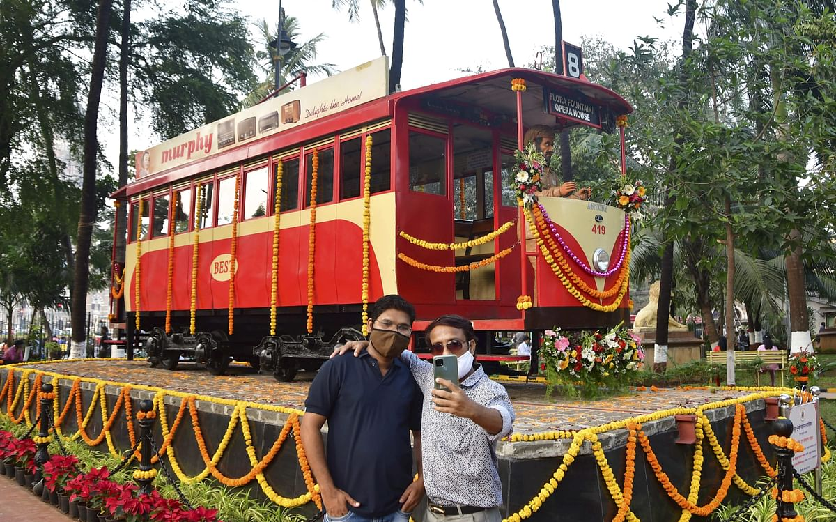 In Pictures: Restored tram car unveiled for public viewing in Mumbai