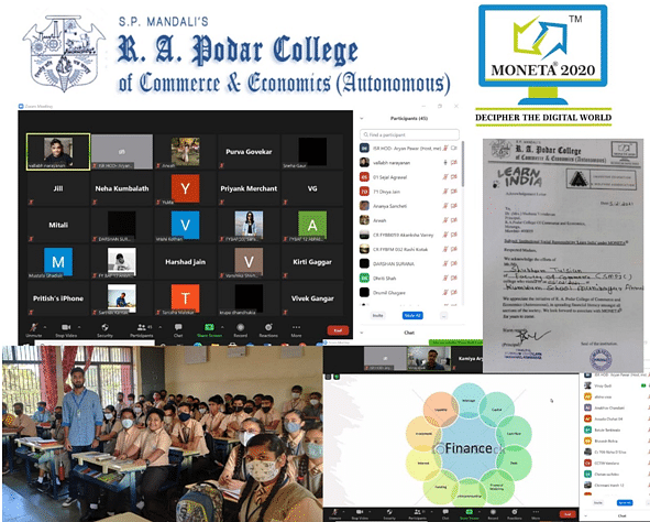 R. A Podar College organises MONETA - 'Learn India', a step ahead in financial literacy