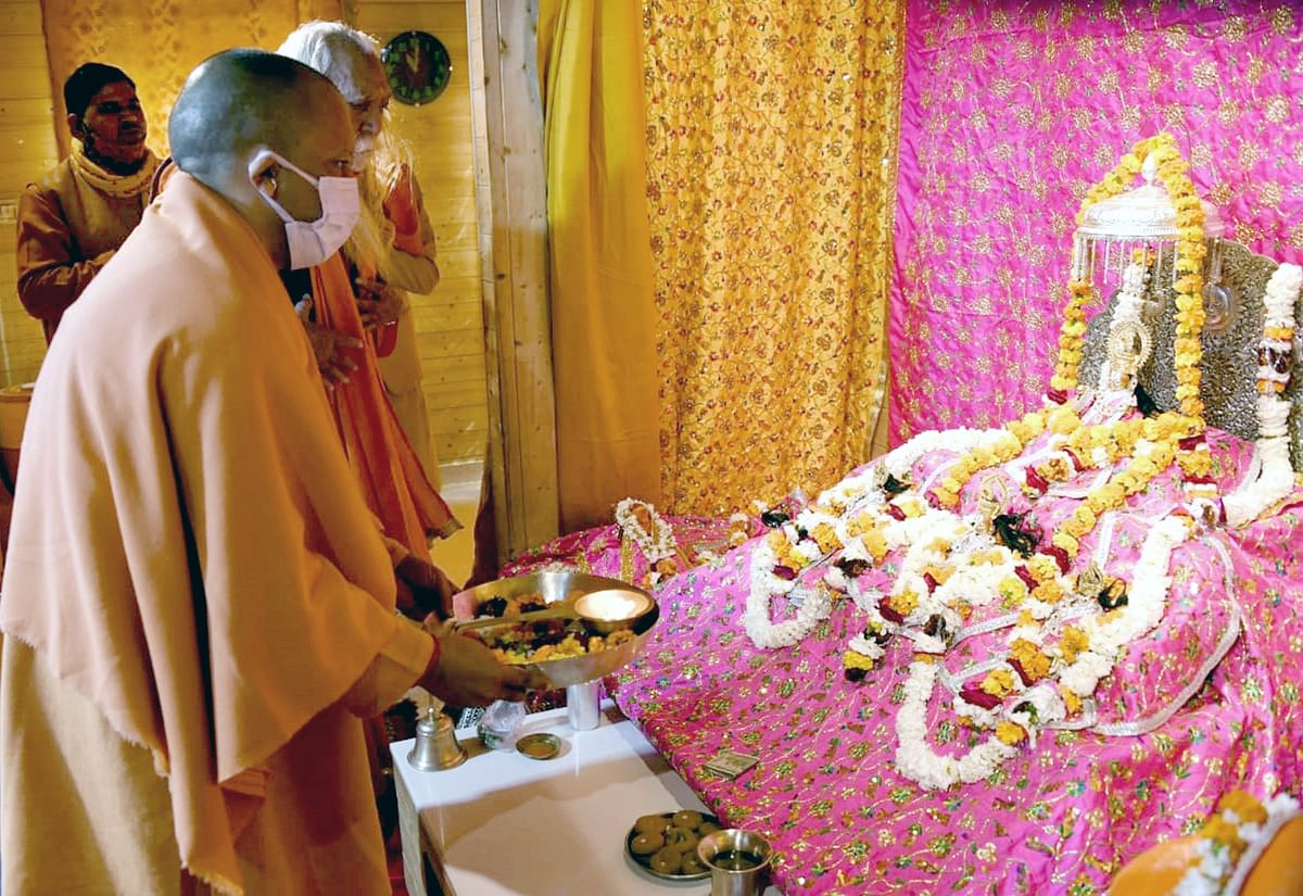 UP: Yogi Adityanath reviews construction works at Ram temple, Kashi Vishwanath corridor