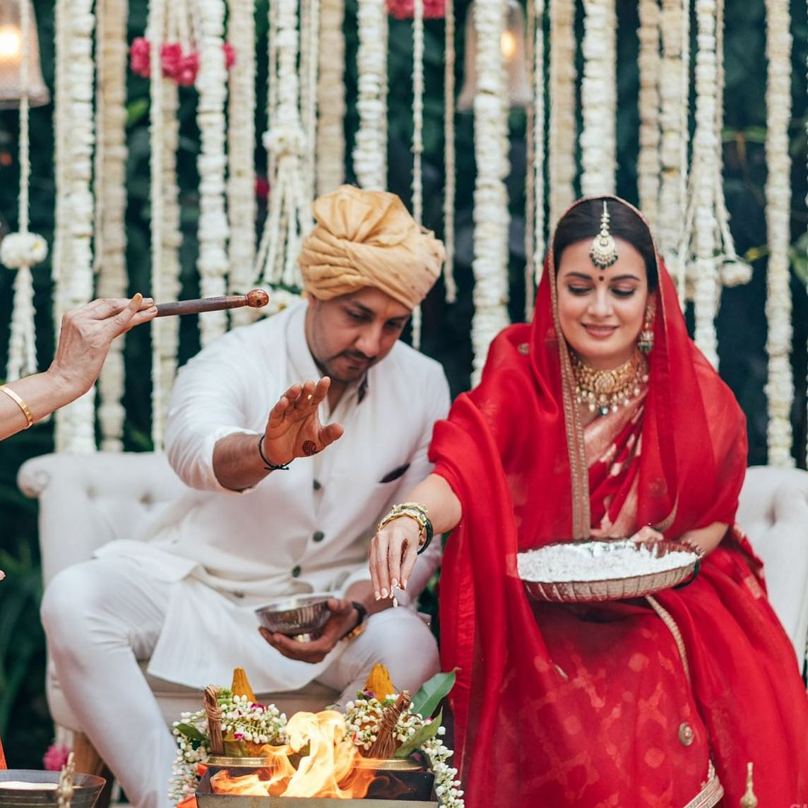 Dia Mirza smashes patriarchy with woman priest presiding over her Hindu wedding ceremony