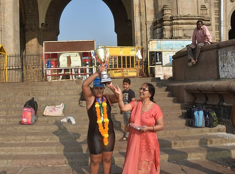 12-year-old autistic child creates record by swimming Bandra-Worli Sea Link to the Gateway of India