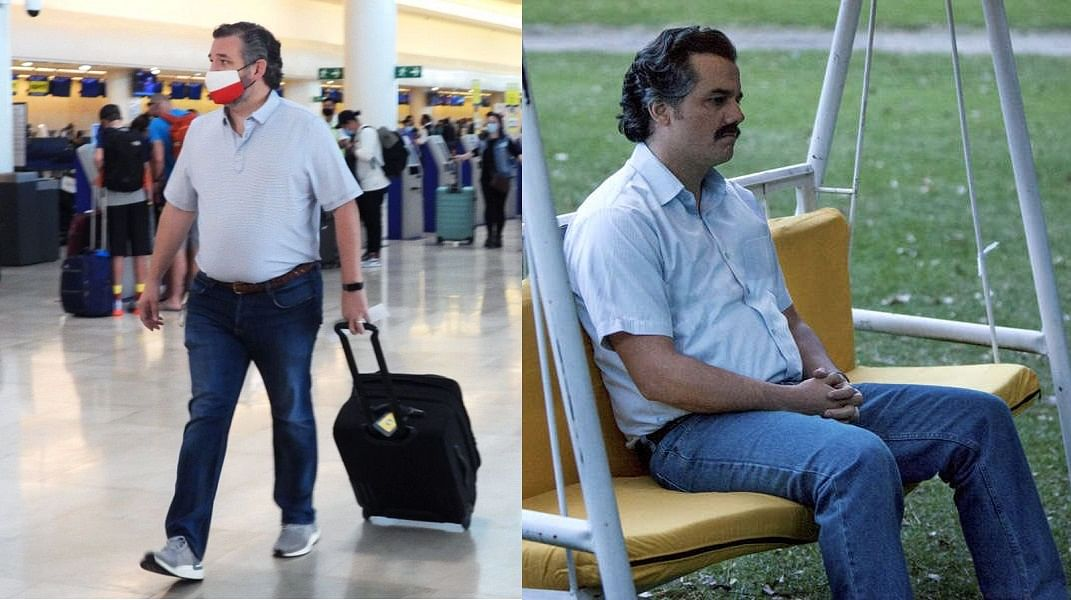 'Better check his luggage': Twitter sees 'uncanny' resemblance between US Senator Ted Cruz and Pablo Escobar