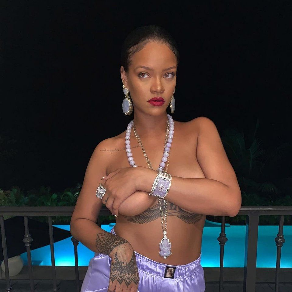 Rihanna shares topless picture with Lord Ganesha necklace, invites social media fury