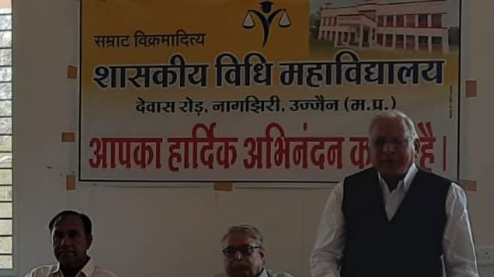 A guest addressed the seminar in Ujjain on Friday